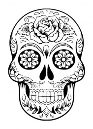 skull drawing to color out