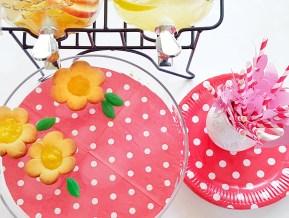 Lemon tarts, Old fashioned lemonade and Fruity punch