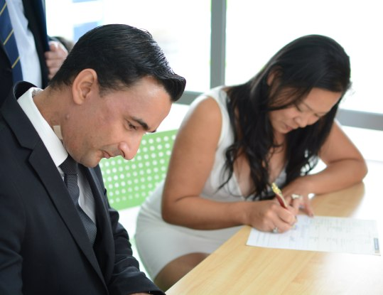 Signing the paperwork