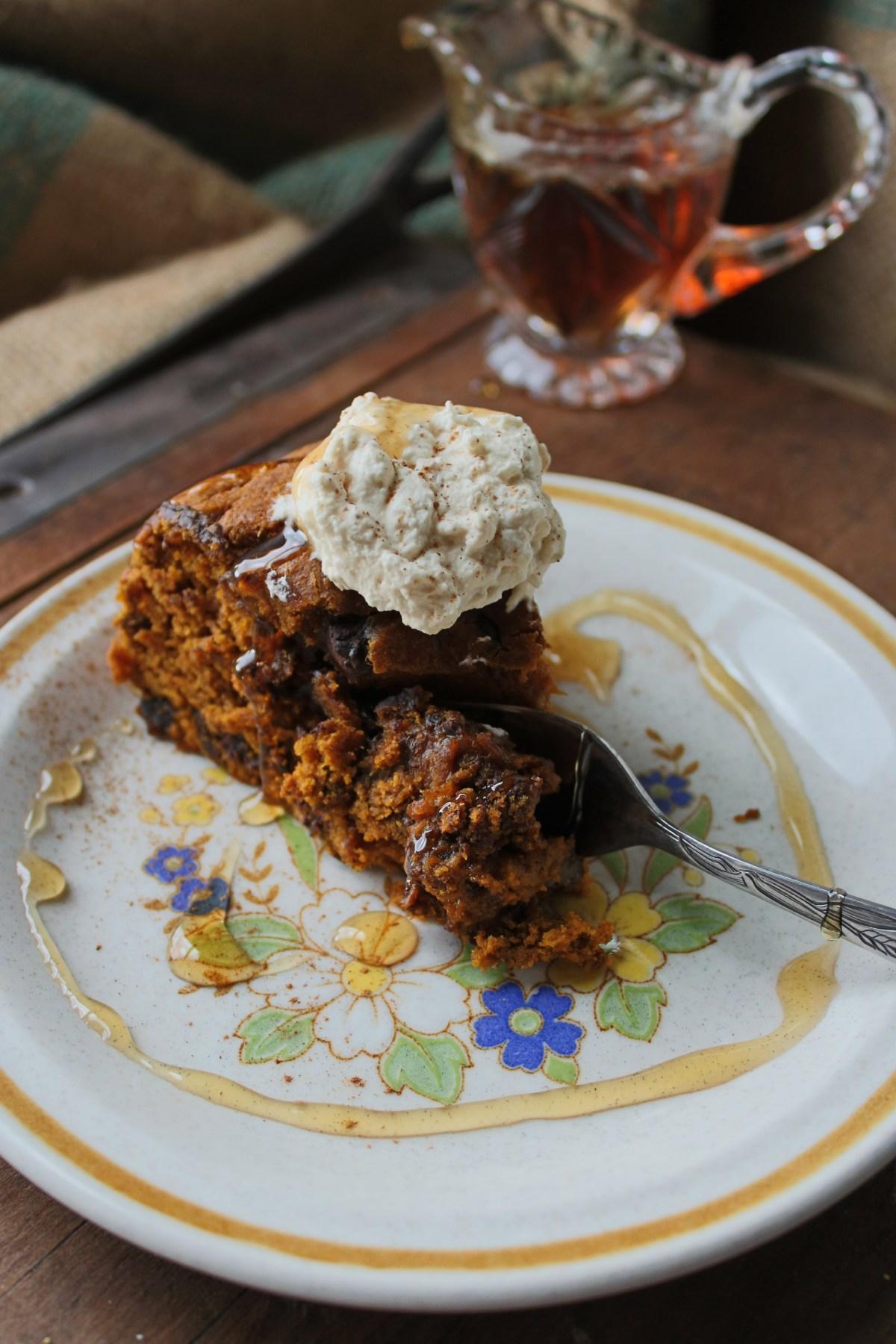 Chocolate Chip Kuri Squash Cake // www.WIthTheGrains.com