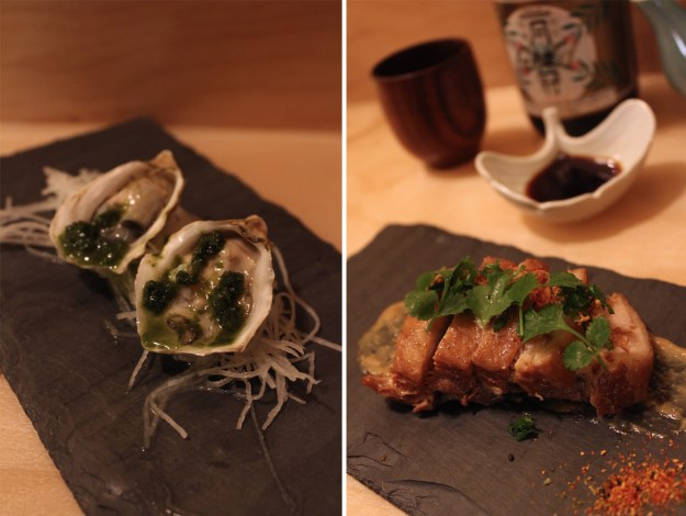 Fukuda Oysters and Pork Belly