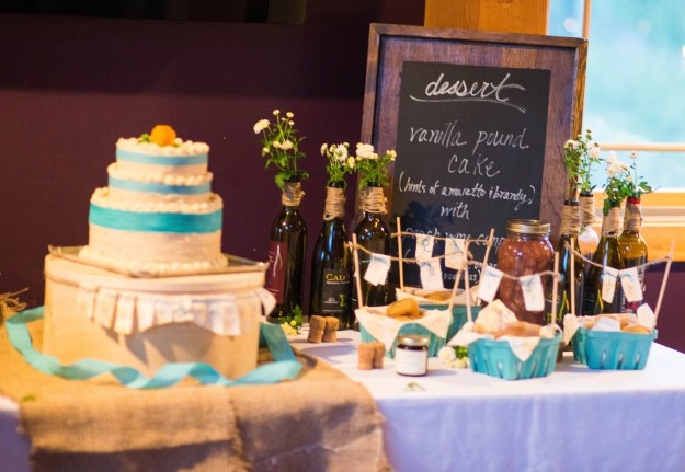 Cake Table and Menu