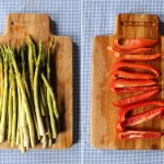 Individual Egg Bakes w/ Asparagus & Red Pepper