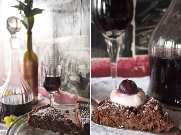 Wine Cake and Slice