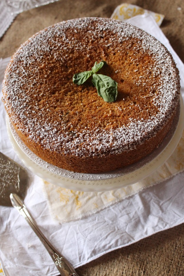 Grapefruit Basil Olive Oil Cake
