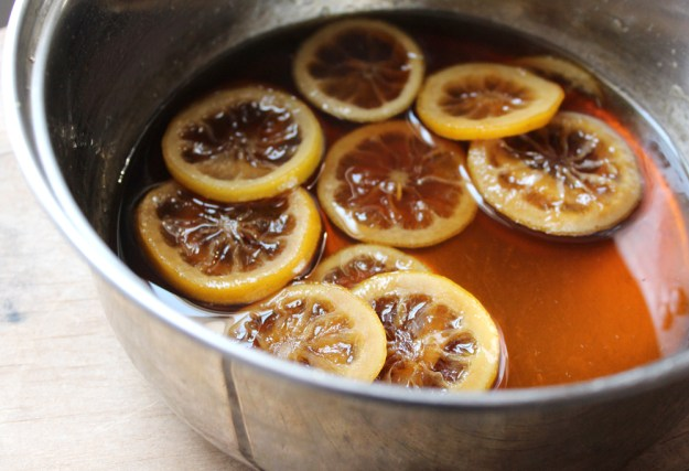 Candied Lemons and Sugar