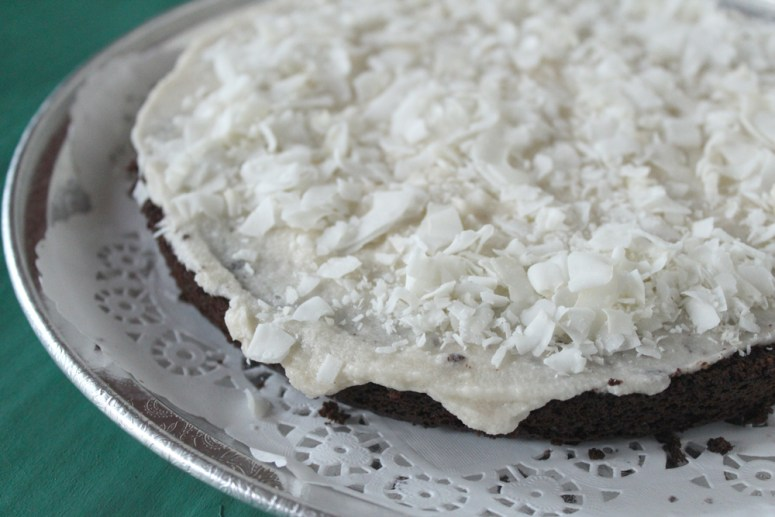 Chocolate Coconut Cake w/ Coconut Buttercream for Stella's Birthday