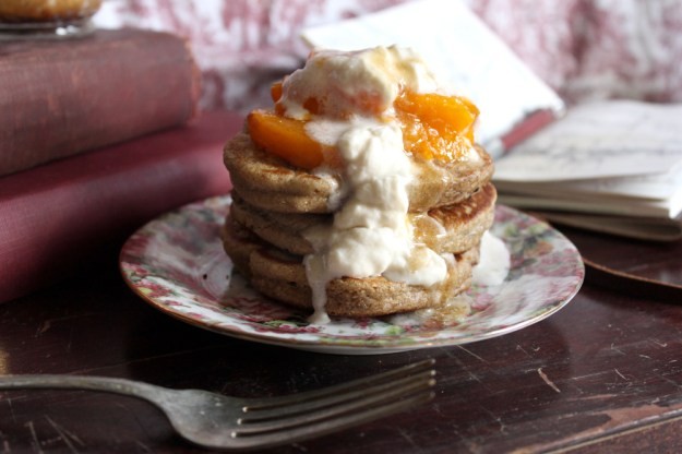 Cherry Pancakes Apricot Topping
