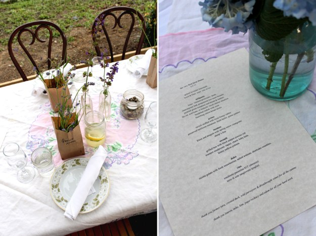 Menu and Place Setting