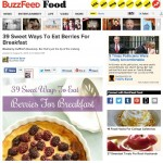 BuzzFeed: 39 Sweet Ways To Eat Berries for Breakfast
