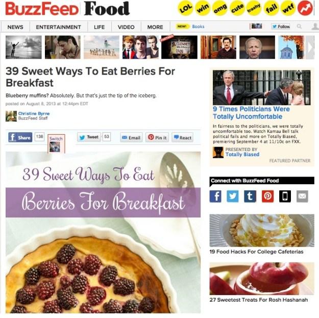 BuzzFeed Berries for Breakfast