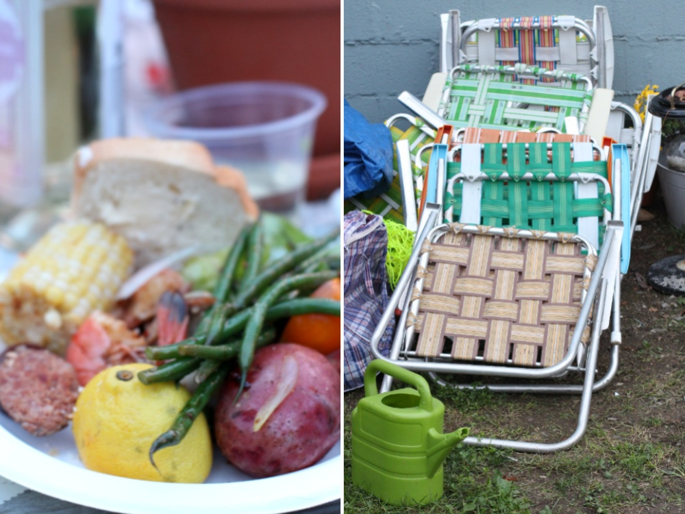 Lawn Chairs and Food