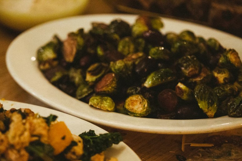 Thanksgiving Recap: Balsamic Roasted Brussels Sprouts & Grapes