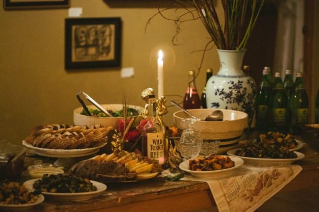 Thanksgiving Buffet Table
