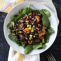 Wild Rice Salad with Pomegranate & Roasted Squash
