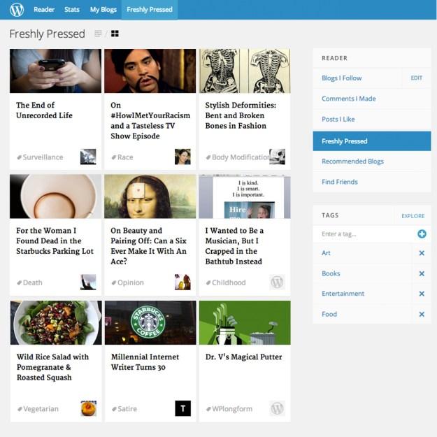 2014.01 WordPress Freshly Pressed