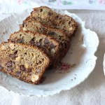 Banana Bread with Flax, Figs, Hazelnuts & Chocolate Chips