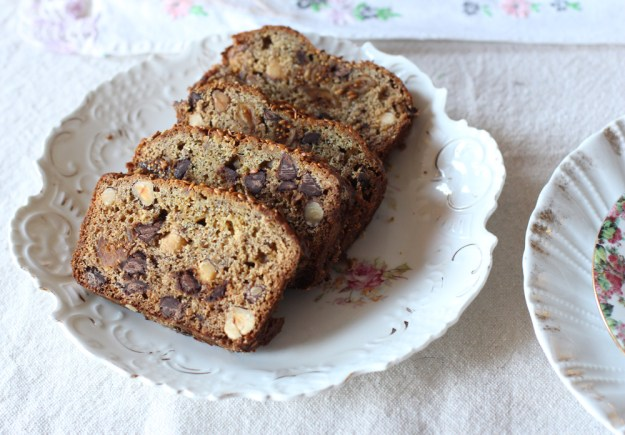 Banana Bread and Plates