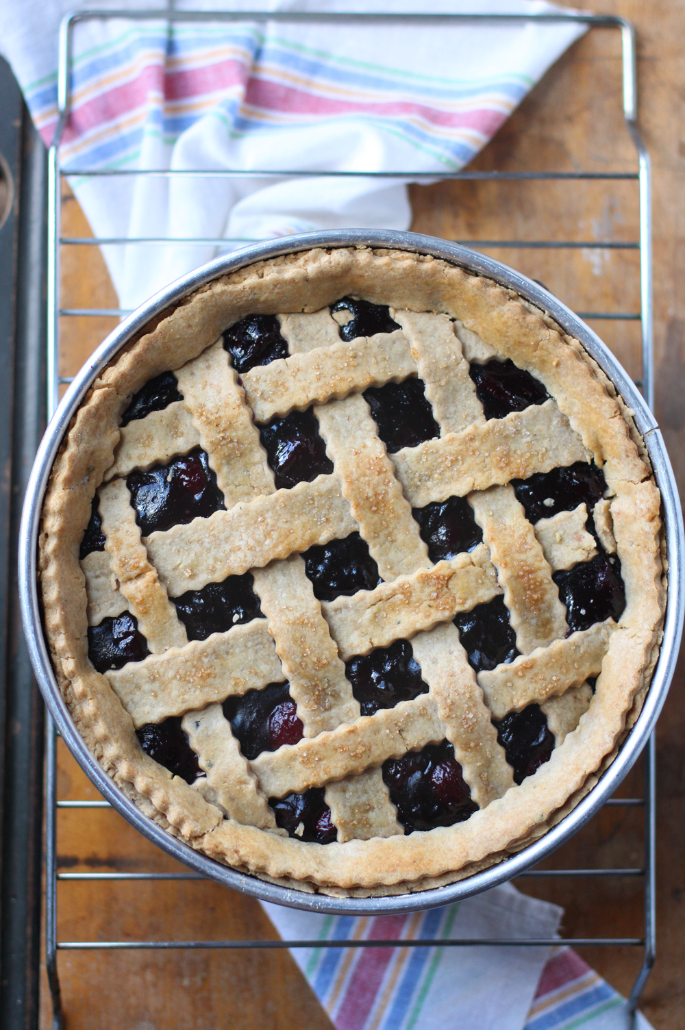 Balsamic Cherry Pie with a Deep Dish Whole-Wheat Black Pepper Crust // www.WithTheGrains.com
