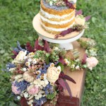 Wedding Whimsy: Almond Vanilla Layer Cake with Lavender & Dried Flowers