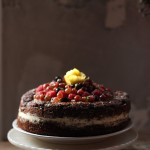 A CSA Inspired Cake: Chocolate Zucchini Layer Cake with Gooseberries