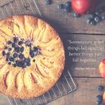 Blueberry Nectarine Cornmeal Cake with Lemon Sage Syrup