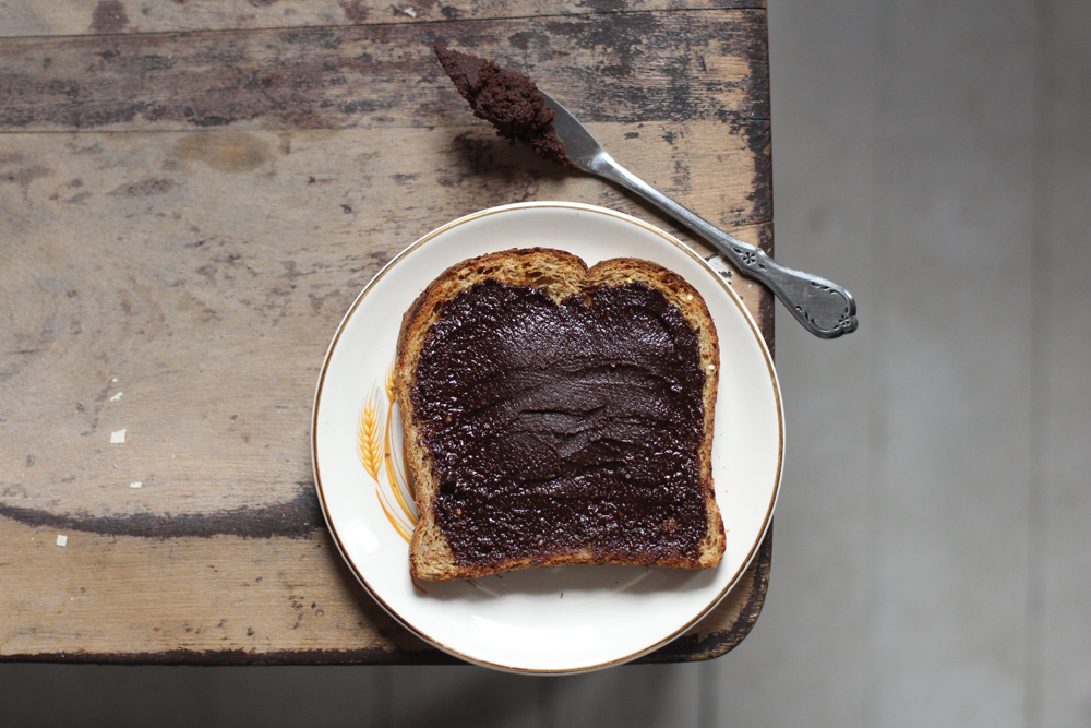 Homemade Nutella (The Case of the Curious Dog) // www.WithTheGrains.com