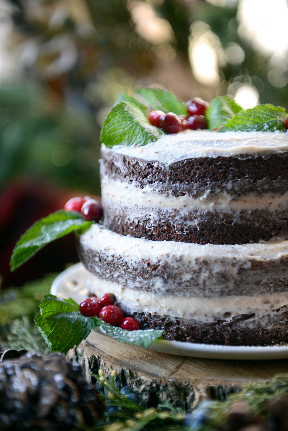 Whole Wheat Chocolate Gingerbread Layer Cake // www.WithTheGrains.com