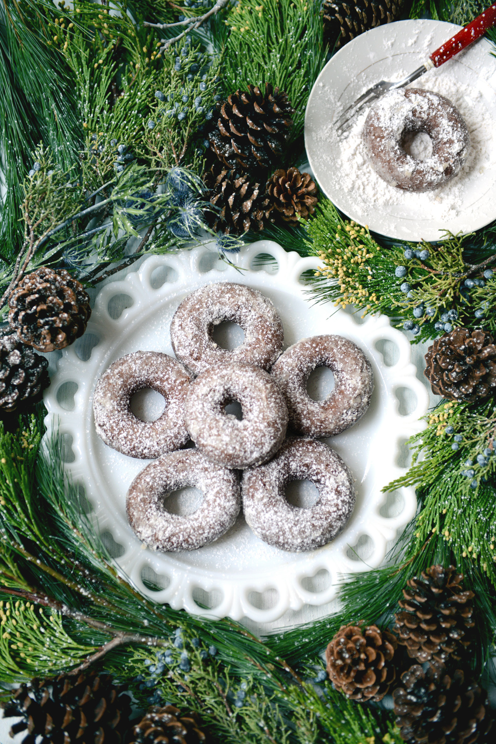 Donut o' the Month: Powdered Whole Wheat Gingerbread
