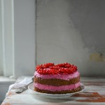 Roasted Beet Layer Cake with Coconut Beet Frosting & Red Currants