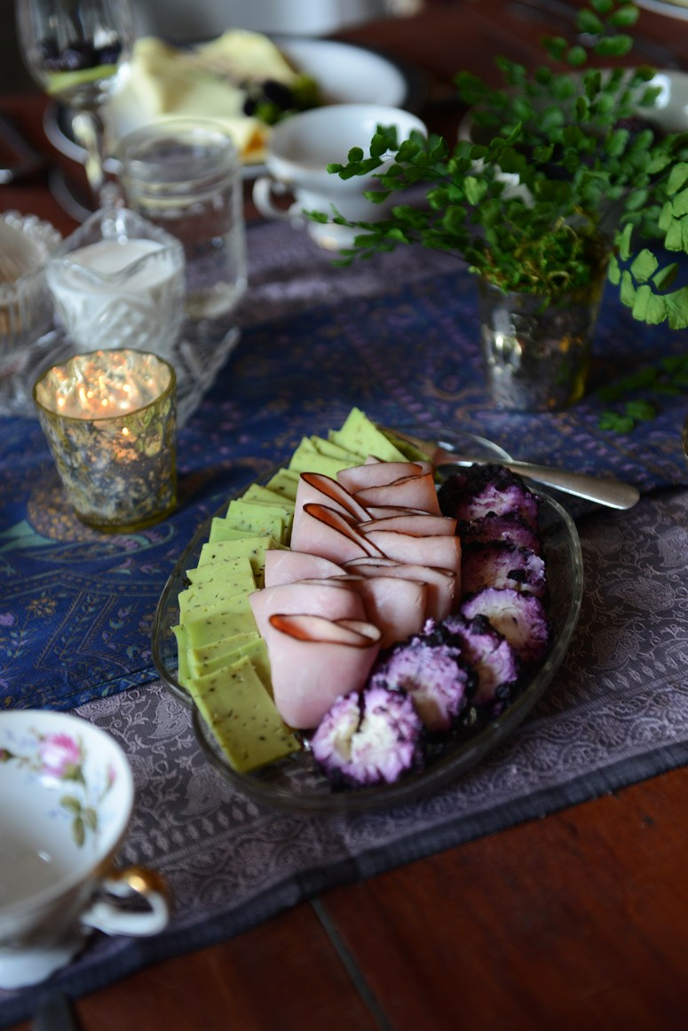 A Purple & Green Themed Spring Brunch