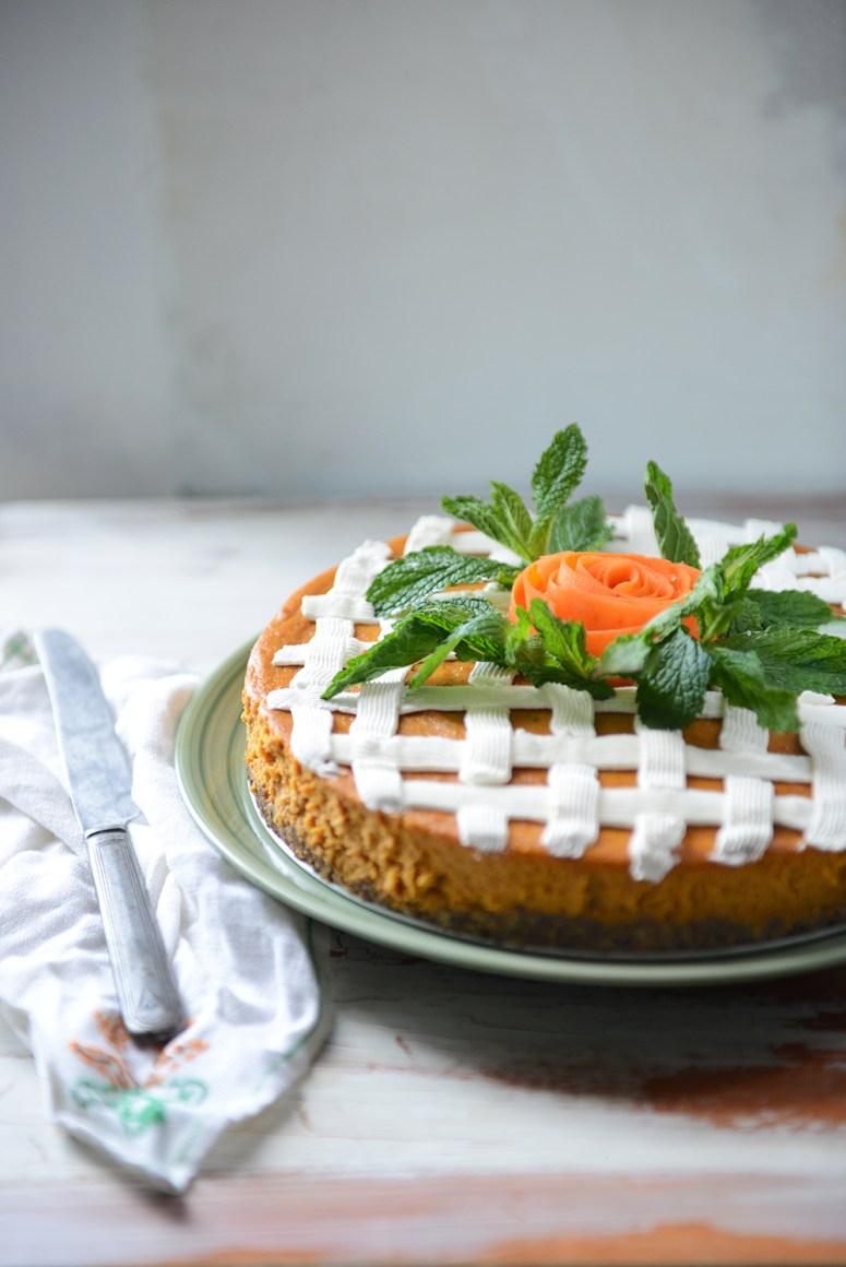 Roasted Carrot Cheesecake (Gluten Free)