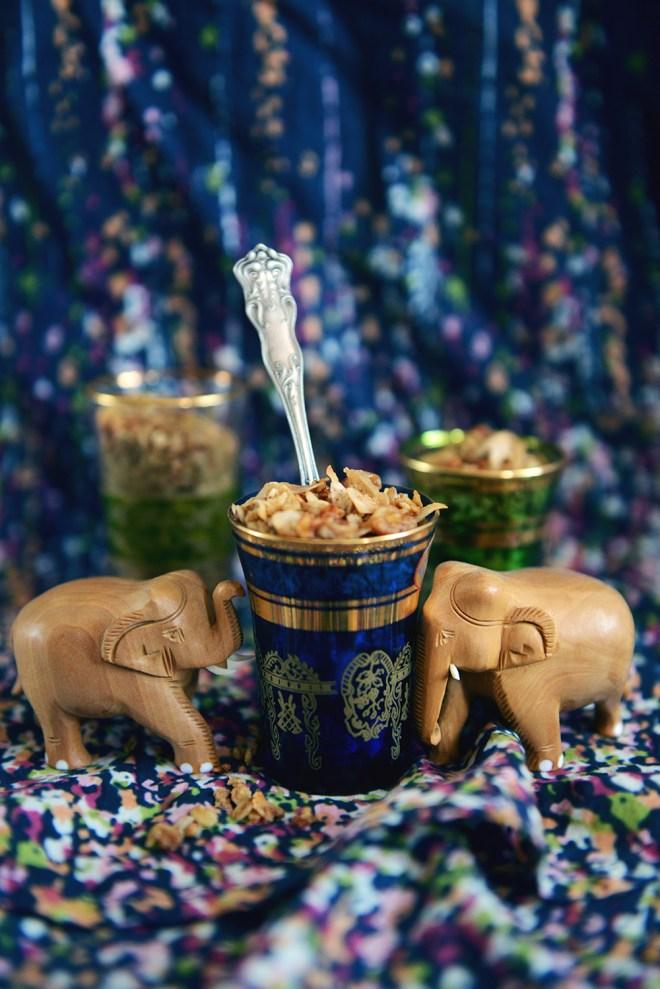 Chai Coconut Granola // www. WithTheGrains.com