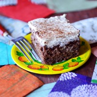 Whole Wheat Chocolate Banana Tres Leches Cake