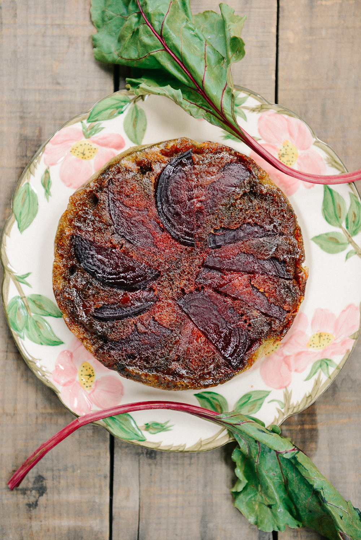 Gluten Free Beet Upside Down Cake // www.WithTheGrains.com