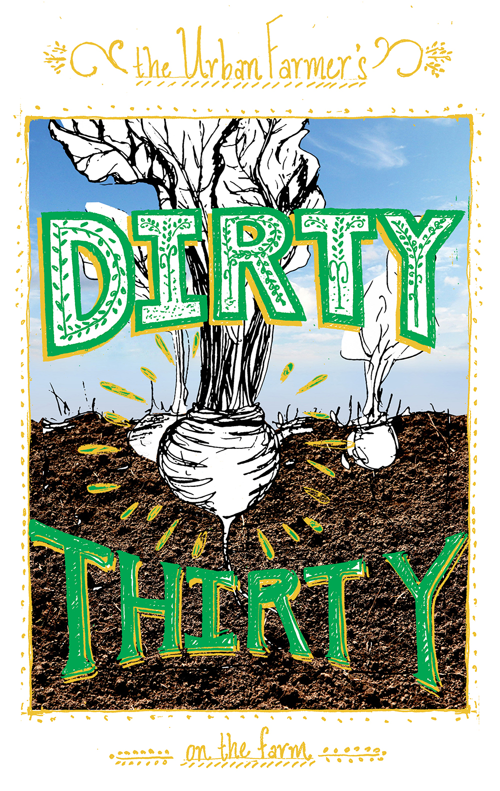Custom Illustration for a Dirty Thirty Surprise Party // www.WithTheGrains.com