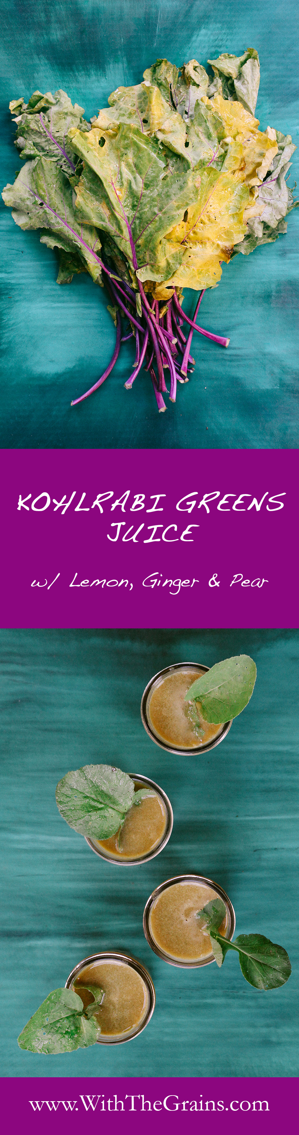 Kohlrabi Greens Juice by With The Grains 01