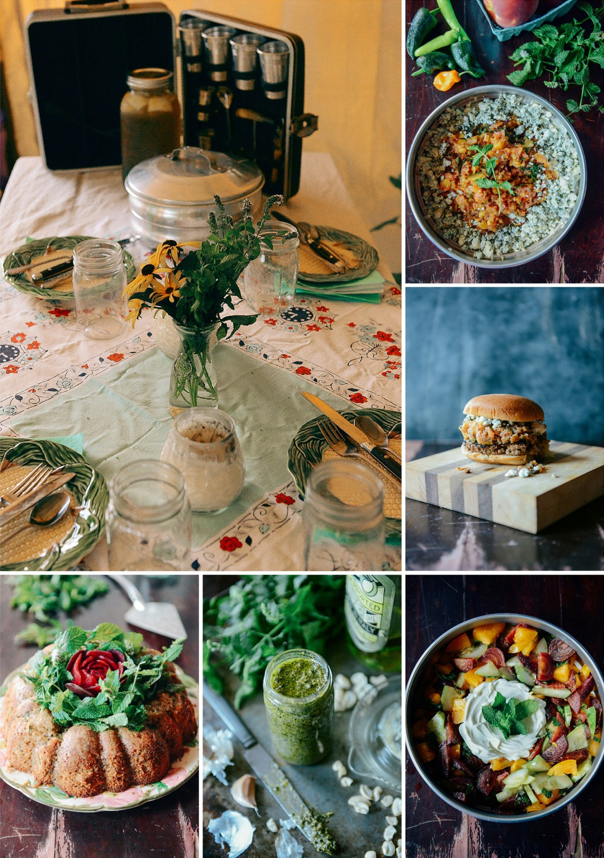 Mint Themed Menu // www.WithTheGrains.com