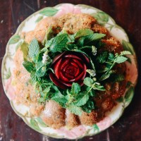 Sprouted Spelt Zucchini Beet Cake with Vodka Mint Glaze