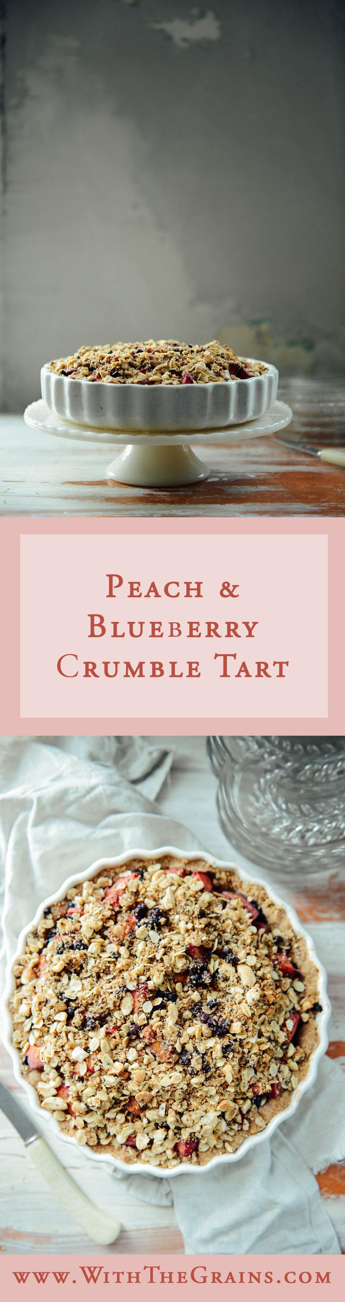 Peach Crumble Tart by With The Grains