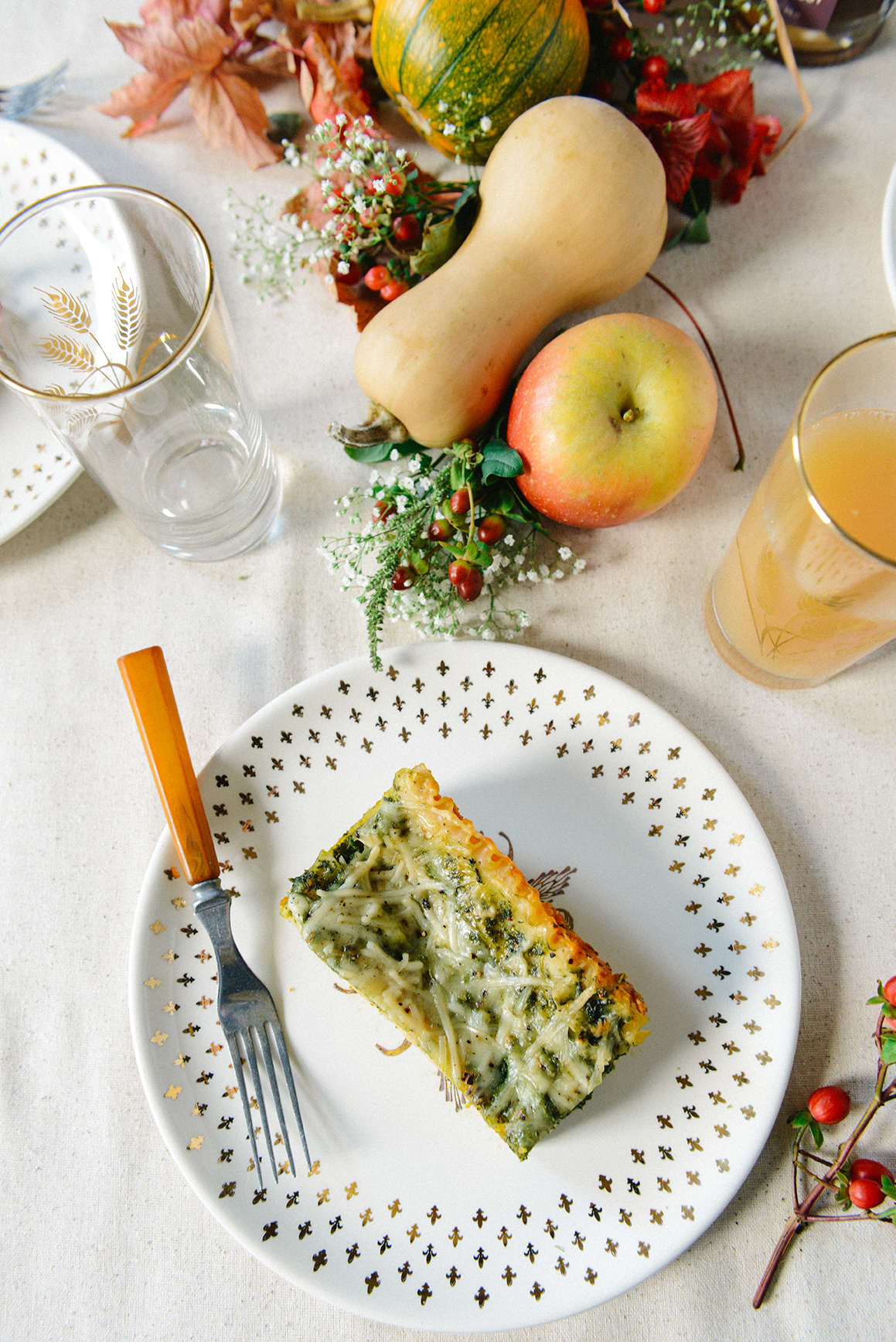 Gluten Free Pumpkin & Kale Lasagna for a Fall Gathering // www.WithTheGrains.com