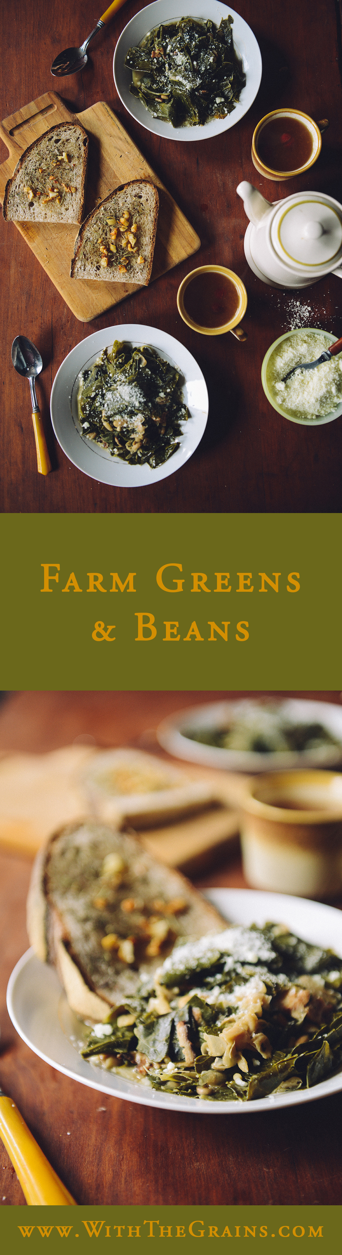 Farm Greens and Beans // www.WithTheGrains.com