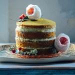 Whole Wheat Citrus, Turmeric & Chia Seed Layer Cake