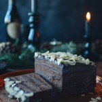 Whole Wheat Chocolate Layer Cake with Chestnut Cream & Dark Chocolate Ganache