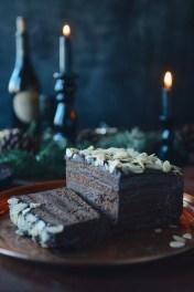 Whole Wheat Chocolate Layer Cake with Chestnut Cream & Dark Chocolate Ganache // www.WithTheGrains.com