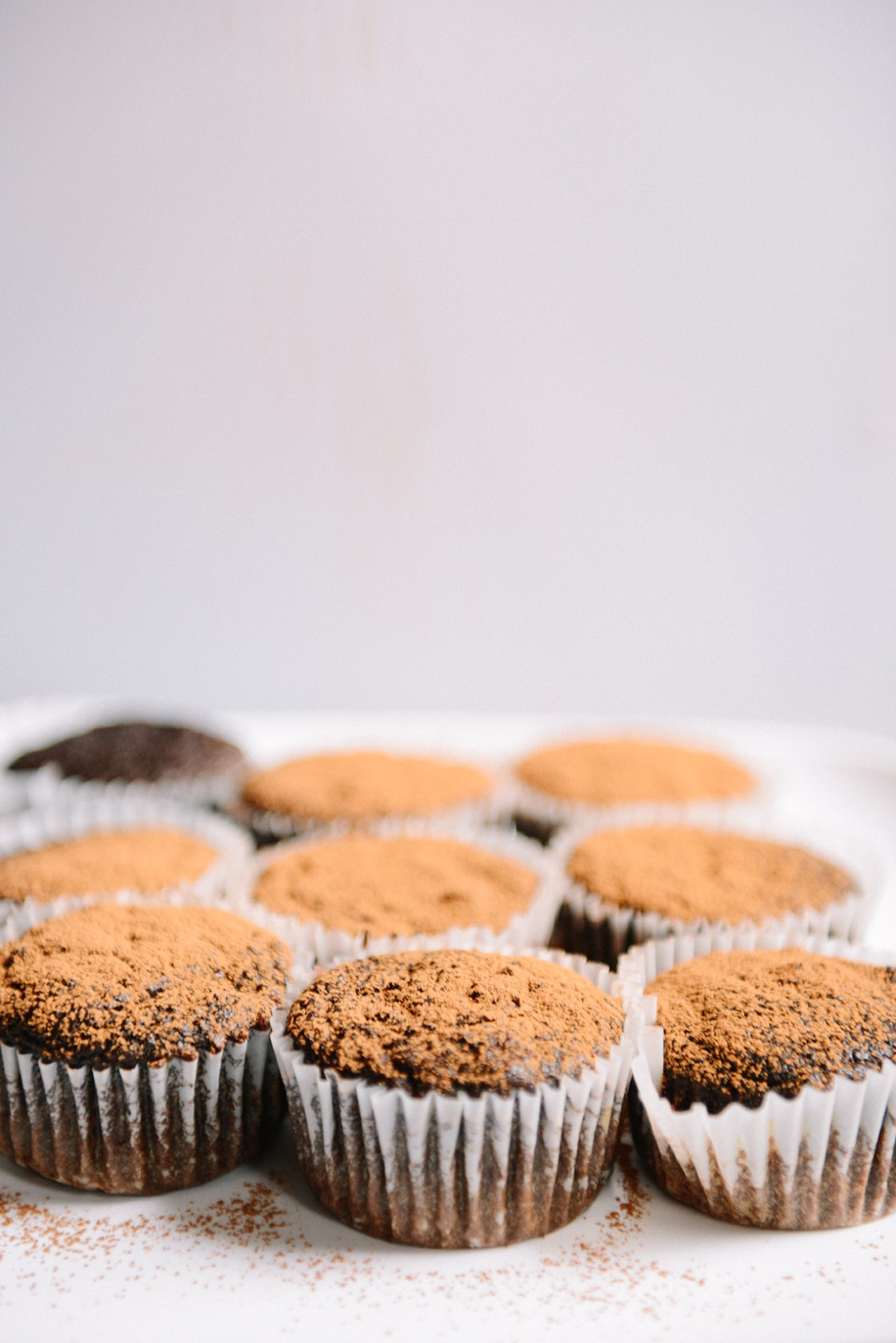 Roasted Beet Chocolate Cupcakes with Raw Cacao (Vegan) // www.WithTheGrains.com
