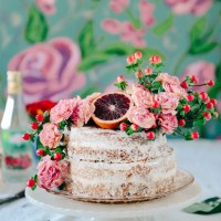 Whole Grain Blood Orange & Rose Water Layer Cake