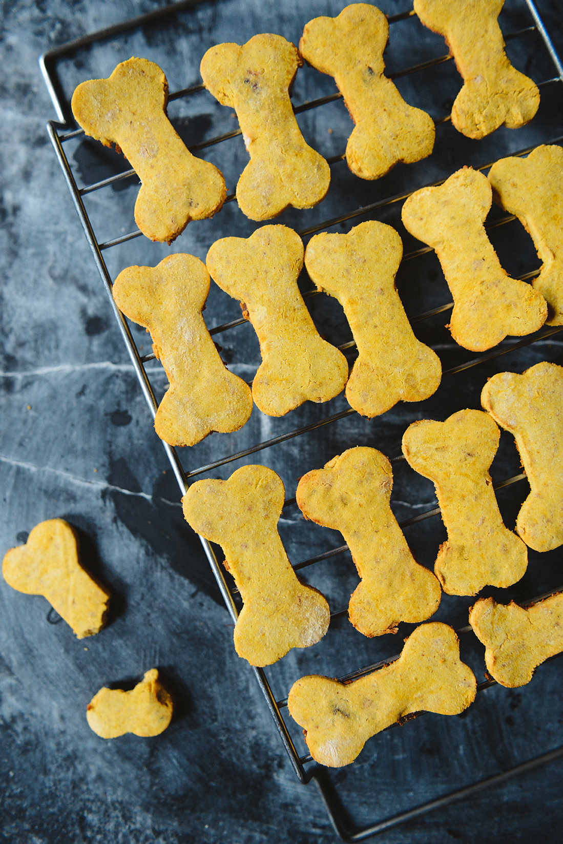 Homemade Grain-Free Dog Treats // www.WithTheGrains.com