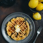 Lemon Blueberry Quinoa Waffles