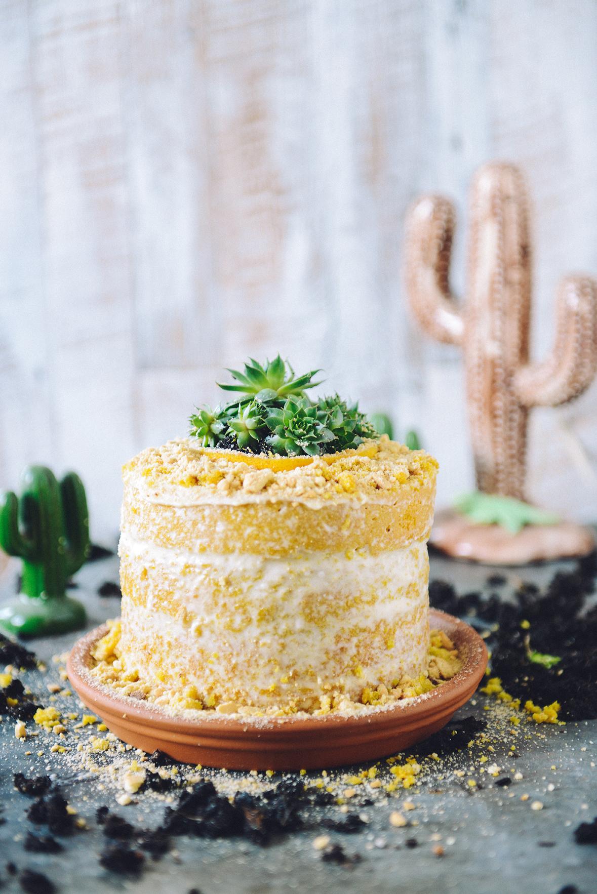 A Desert-Inspired Lemon Ginger Turmeric Layer Cake